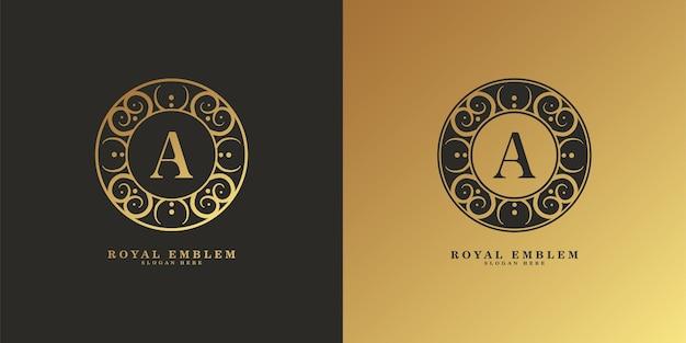 Elegante retro decoratieve logo-set