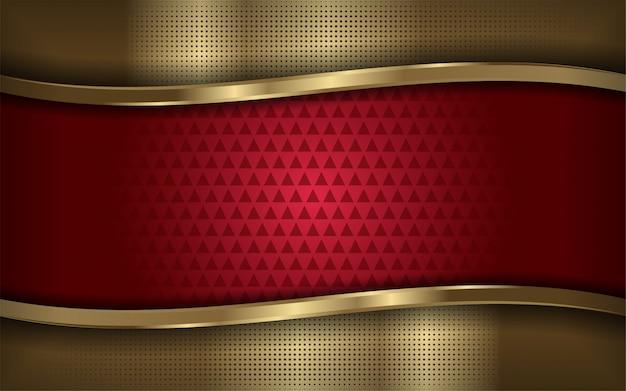 Elegante rode en gouden moderne achtergrond