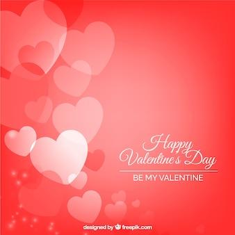 Elegante rode valentijnsdag achtergrond