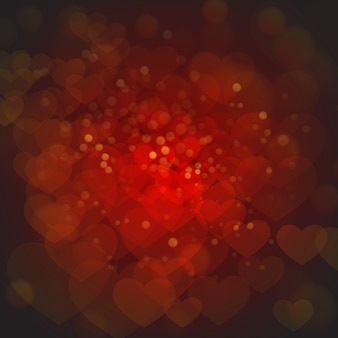 Elegante rode valentine-achtergronden met verlichtingseffect