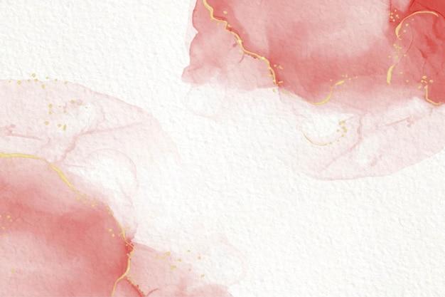 Elegante roze alcoholinkt abstract vloeistof schilderij
