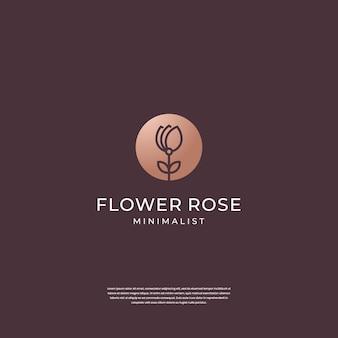 Elegante roze bloem logo ontwerp inspiratie