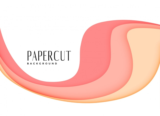 Elegante roze gelaagde papercutachtergrond
