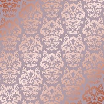 Elegante roze gouden patroonachtergrond