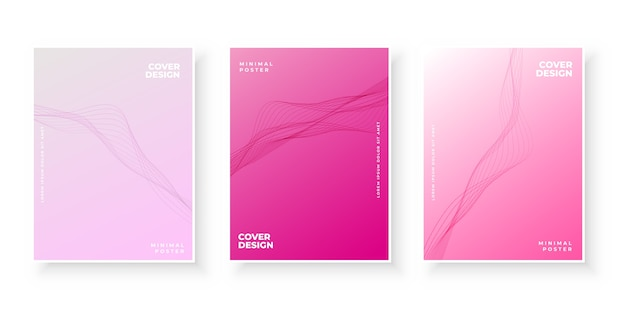 Elegante roze verloopcollectie met golvende vormen