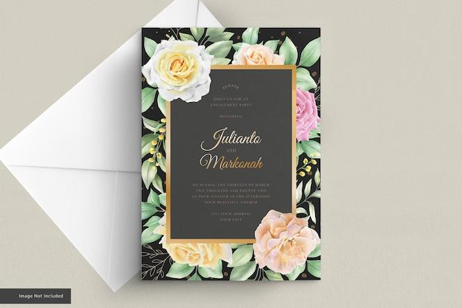 Elegante rozen uitnodigingskaartenset