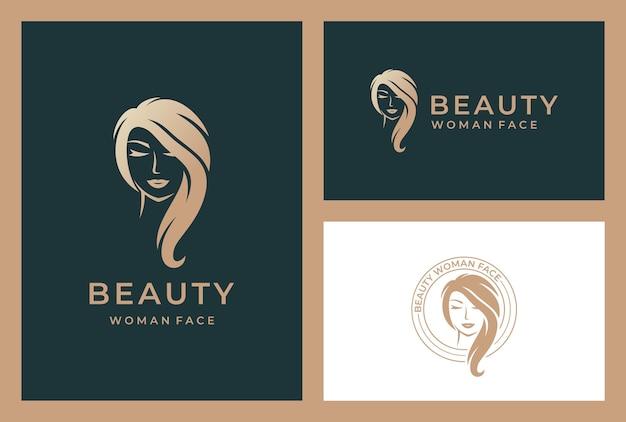 Elegante schoonheid vrouw logo