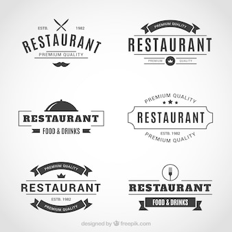 Elegante set van cool restaurant logo's