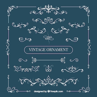 Elegante set van vintage ornamenten