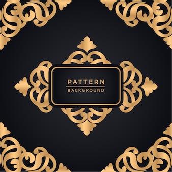 Elegante sierpatroonachtergrond in gouden kleur