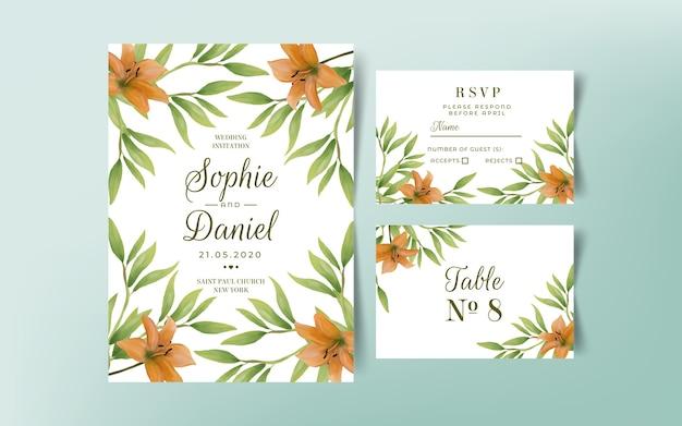 Elegante sjablonen voor bruiloft uitnodiging