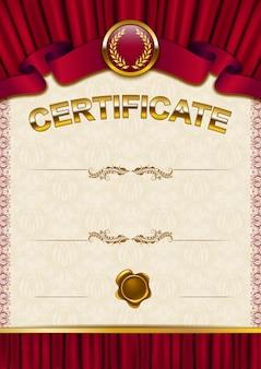 Elegante sjabloon van certificaat