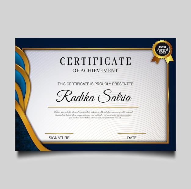 Elegante sjabloon voor het behalen van certificaten
