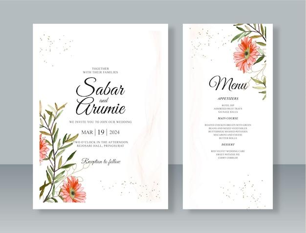 Elegante sjabloon voor huwelijksuitnodigingen