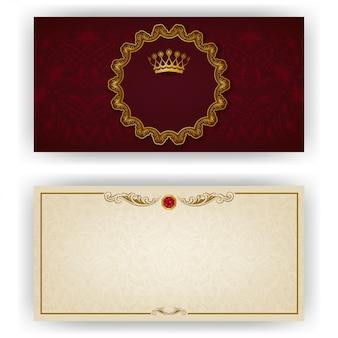 Elegante sjabloon voor vip-luxe uitnodiging