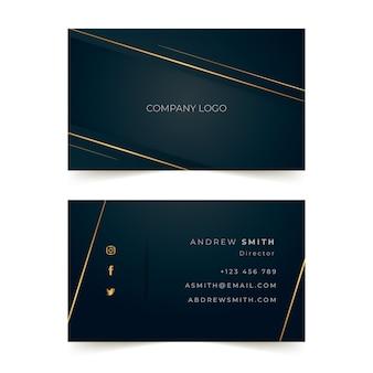 Elegante sjabloon voor visitekaartjes