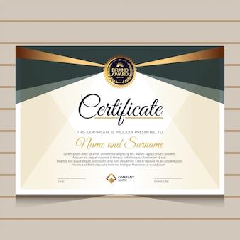 Elegante stijl voor certificaatsjabloon