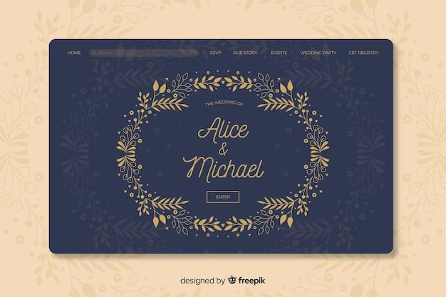 Elegante trouwbestelpagina