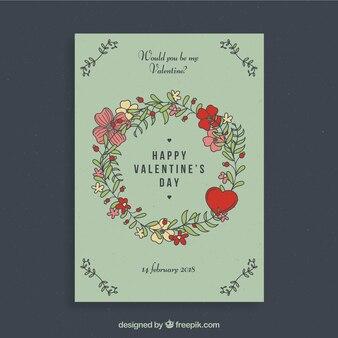 Elegante valentijn flyer ontwerp