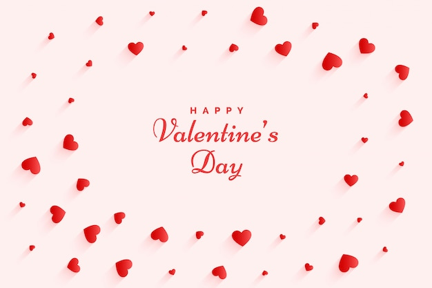 Elegante valentijnsdag harten wenskaart mooi design