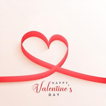 Elegante valentijnsdag lint harten achtergrond