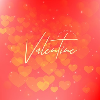 Elegante valentijnsverloopachtergrond met verlichtingseffect
