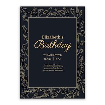 Elegante verjaardag uitnodiging sjabloon thema