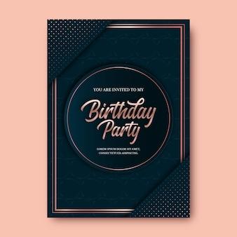 Elegante verjaardag uitnodiging sjabloon