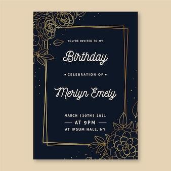 Elegante verjaardagskaartsjabloon