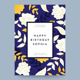 Elegante verjaardagssjabloon voor uitnodiging