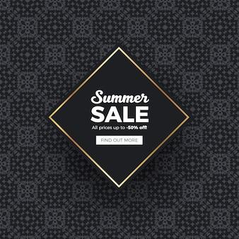 Elegante verkoop banner achtergrond