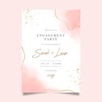 Elegante verlovingsuitnodigingssjabloon