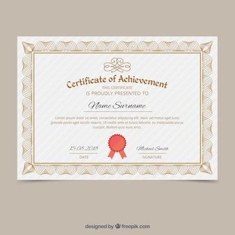 Elegante versiering certificaatsjabloon
