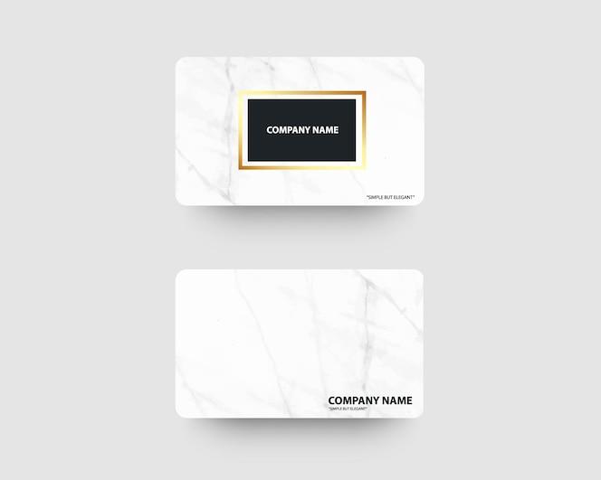 Elegante visitekaartjes met marmeren textuur en goud