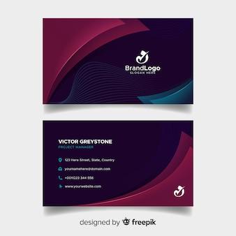 Elegante visitekaartjesjabloon met abstract ontwerp