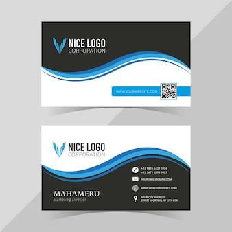 Elegante visitekaartjesjabloon, voor- en achterkant Premium Vector