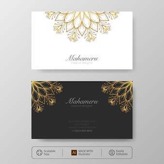 Elegante visitekaartjesjabloon, voor- en achterkant