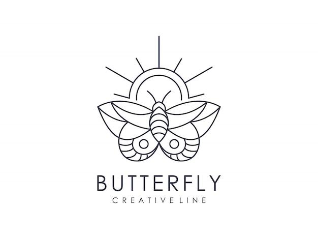 Elegante vlinder logo overzicht minimalistisch