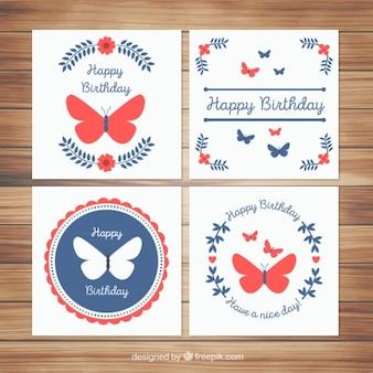 Elegante vlinders kaarten