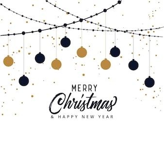 Elegante vrolijke kerstfeest achtergrond