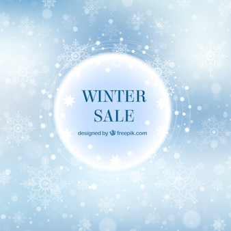 Elegante winter verkoop achtergrond