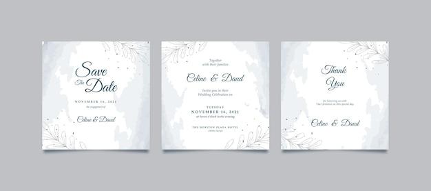 Elegante witte instagram-post voor bruiloft