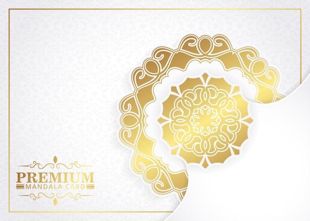 Elegante witte mandala achtergrond concept