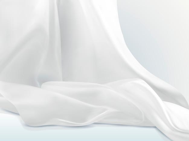 Elegante witte satijnen illustratie