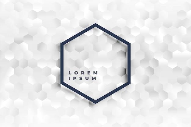 Elegante witte zeshoekige vormen patroon achtergrond