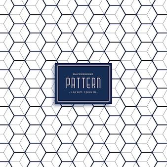 Elegante zeshoekige 3d kubus stijl patroon achtergrond
