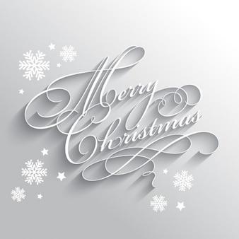 Elegante zilveren kerstmisachtergrond