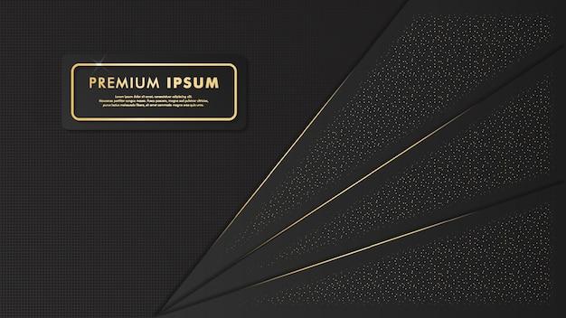 Elegante zwarte en gouden achtergrond