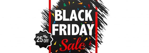 Elegante zwarte vrijdag banner lay-out sjabloon