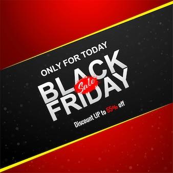 Elegante zwarte vrijdag verkoop banner
